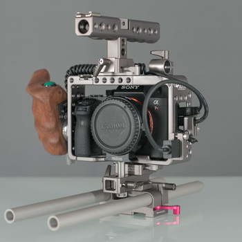 Rent Sony A7S ii kit with cage, rails, tripod and backpack.
