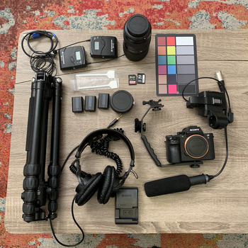 Rent Sony A7sii Video Kit / Audio and Light Tripod / Run-and-Gun Kit in super small bag