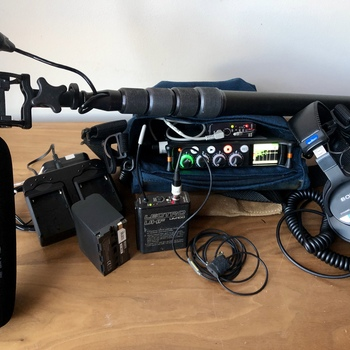 Rent Complete MixPre-6 audio recording kit with (1) Lectro wireless lav and NTG-3 shotgun mic and boom