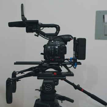 Rent Canon C300MKII EF or PL Mount with Arri Broadcast Shoulder Rig