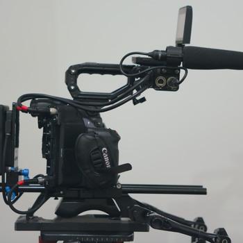 Rent Canon C300MKII EF or PL Mount with Arri Broadcast Shoulder Rig