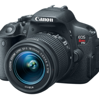 Rent Canon T5i with Lenses (35mm, 85mm, 18-55mm)