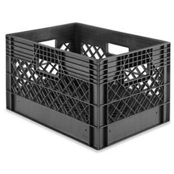 "Rent Milk Crates - 18 x 12 x 10 1⁄2"", Black"