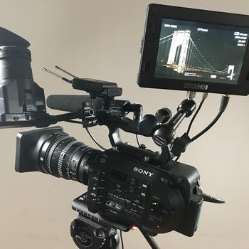 Rent FS7 package w/ Sony PZ 28-135 lens, DP7-HD Monitor, Sony Lav