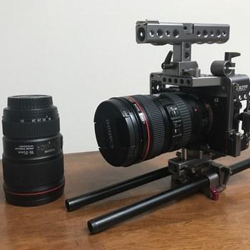 Rent Sony Alpha a7S II Mirrorless Digital Camera w/ 2 Canon Zoom lenses