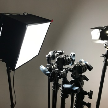 Rent LED interview lighting package - 2 Astras, 1 Fiilex, cables, stands, carrying case