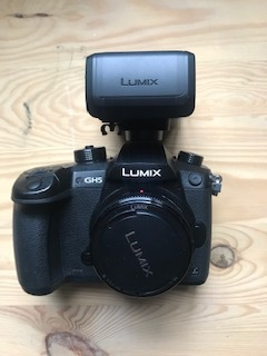 Panasonic lumic gh5   face w audio attachment