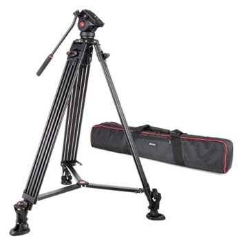 "Rent  Professional Heavy Duty Video Camcorder Tripod with Fluid Drag Head and Quick Release Plate, 74"" inch,Max Loading 10KG"