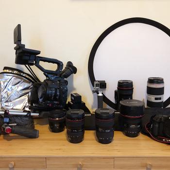 Rent Canon C300 Mark II (Complete Kit w/ 6 Lenses, Lavs, Shotgun, Rig, 5DmIII, Tool Kit, etc.)