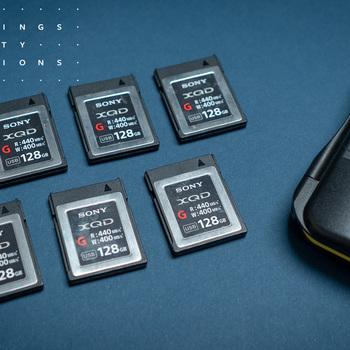 Rent Sony 128 GB XQD Media Card Kit. 6 Cards
