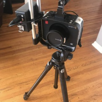 Rent BlackMagic Cinema Camera 4k Canon EF with tripod/cards/batt