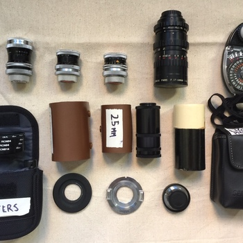 Rent SUPER 16MM FILM LENS KIT - C-mount for micro four thirds - Switar Primes and Angenieux  zoom