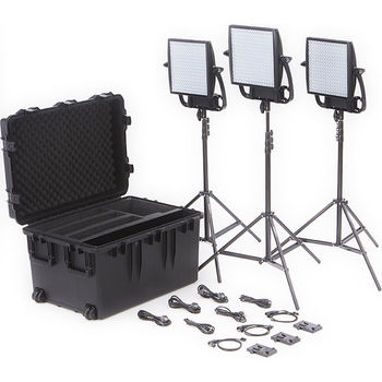 Rent Litepanels Astra 6X Bi-Color 3-Light Kit w/ SnapBag softbox, Stands and 6 x V-Mount batteries