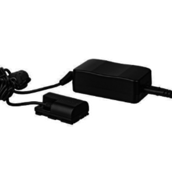 Rent AC power adapter for Canon LP-E6 batteries