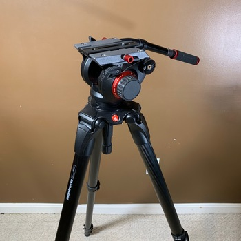 Rent Manfrotto 504HD Fluid Video Head with 536 Carbon Fiber 3-Stage Video Tripod