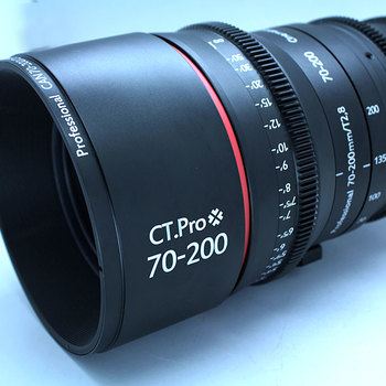 Rent Cinema 70-200 CT Pro zoom.  Rehoused Canon T3