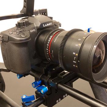 Rent Cinema 4K - Panasonic GH5 w/ 35mm & 14mm Rokinon Lenses + Shoulder Rig & Follow Focus