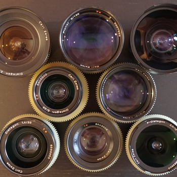 Rent 10 lens Zeiss Contax Cinemoded Prime and Zoom lens set