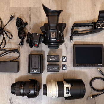Rent Canon EOS C100 Mark II — FULL KIT w/ TWO L-SERIES LENSES!