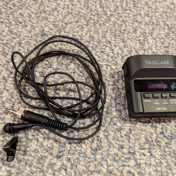 Rent Tascam DR-10L Digital Audio Recorder and Lavalier Combo (Black)