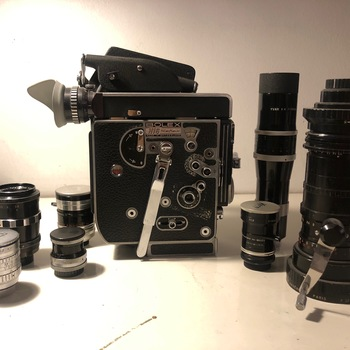 Rent Bolex REX-5 16mm Reflex Film Camera, Angenieux / Switar / Kern / Schneider-Kreuznach Lenses 12-120, 10mm, 16mm, 25mm, 50mm, 75mm, 150mm