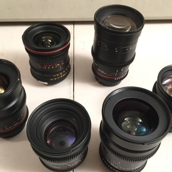 Rent Rokinon/Tokina Cine (7) Lens. 11-16, 20, 24, 35, 50, 85,135