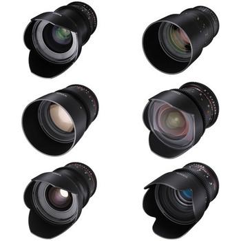 Rent Rokinon / Tokina Cine Lens Set: 11-16, 24,35,50,85 and 135