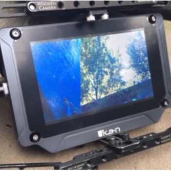 "Rent Ikan SX7. 7"" Monitor. 2000 NITs. Wooden Camera Cage. V Mount"