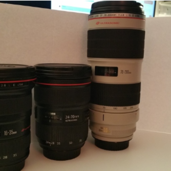 Rent Canon 16-35 L II, 24-70 L II, and 70-200 L II Lens Kit
