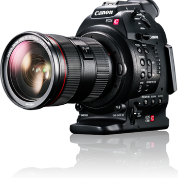 Rent Canon C100 with C-shooter Shoulder Rig and Monitor