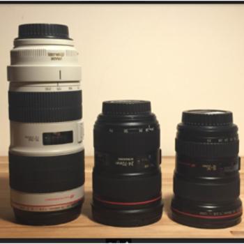 Rent Canon L Series Trinity (16-35mm, 24-70mm, 70-200mm)