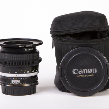 Rent Nikon AI-S 35mm f/1.4 - *CANON EF mount*, de-clicked aperture, focus gear, and 77mm threads