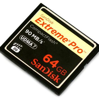 Rent Sandisk Extreme Pro UDMA 90MBs 64GB