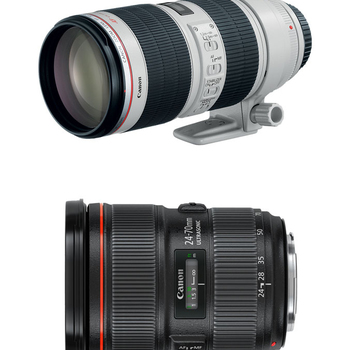 Rent Canon L Zoom Kit: 24-70mm f/2.8L II USM + 70-200mm f/2.8L IS II USM EF Zoom Lenses