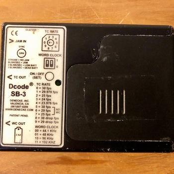 Rent Denecke SB-3 time code lock box