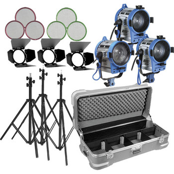 Rent Arri Fresnel 3-Light Kit with travel case (2 x 300W + 1 x 650W)