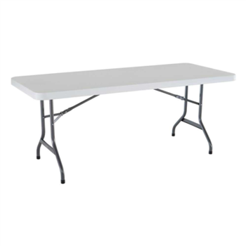 Rent 6 foot fold in half table