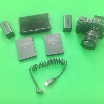 Rent Fuji X-T3 mirrorless Camera w/ Atomos Ninja V Recorder  w/18X55 Lens