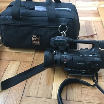 Rent Canon XF100, 3 CF Cards, Tripod, two batteries in great condition, Portabrace bag