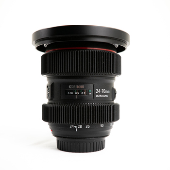 Rent Canon L series 24-70 II f2.8  w/ gear rings & 114mm front