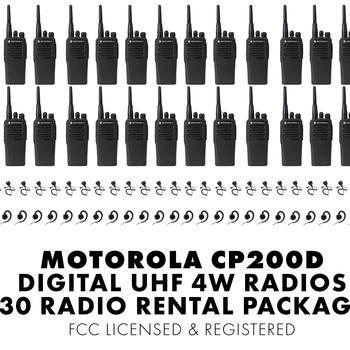 Rent Set of Thirty (30) Motorola CP200D DIGITAL 4W UHF Walkie Talkie Two Way Radio HT FCC Licensed