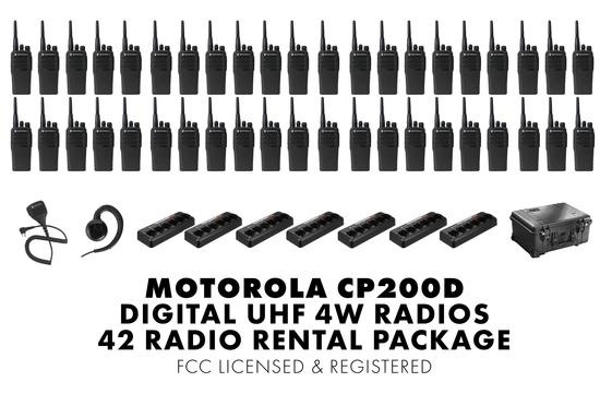 Motorola cp200d 42 rental package