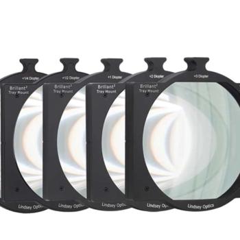 "Rent Lindsey Optics 4x5.65"" Brilliant² Tray Mount Diopter Set +1/4, +1, +2"