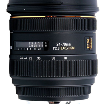 Rent 3 Lens Kit -Sigma 24-70mm, Sigma 70-200mm, and Sigma 17-35mm EF Mount