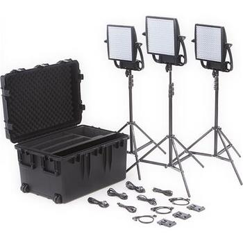Rent Full Kit - Litepanel Astra 1x1 Bi-Color LED Kit - 3x lights, stands & Snapbag soft boxes