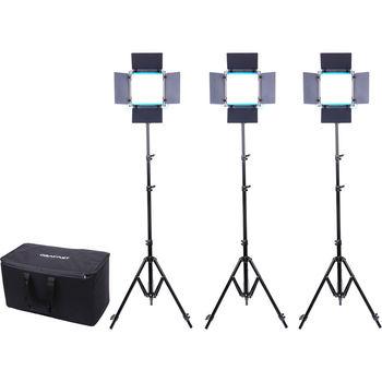 Rent Dracast LED500 S-Series Bi-Color 3-Light Kit with V-Mount Battery Plates and Soft Case
