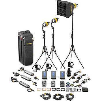 Rent Dedolight DLED4-BI Bi-Color LED 3-Light Master Kit