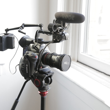 Rent Canon C100 II Kit with Canon L-Series Lenses, Small HD Monitor, Rode VideoMic Pro, Tripod, etc.