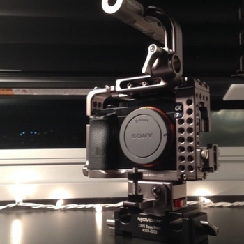 Rent Sony a7S E & EF mount with Cage
