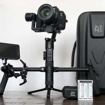 Rent Zhiyun crane with 5dmark iv or bmpcc4k and small hd 502